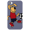 Cute Funny Brown Puppy Dog Playing Soccer Phone Case