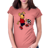 Cute Funny Brown Puppy Dog Playing Soccer Womens Fitted T-Shirt