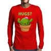 Cute Funny Catcus Hugs Mens Long Sleeve T-Shirt