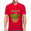 Cute Funny Catcus Hugs Mens Polo