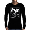 Cute Godzilla Mens Long Sleeve T-Shirt