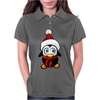 Cute Penguin Santa Claus Womens Polo
