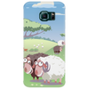 Cute sheep on summer medow Phone Case