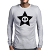 Cute Skull in Star Mens Long Sleeve T-Shirt