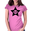 Cute Skull in Star Womens Fitted T-Shirt