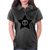 Cute Skull in Star Womens Polo