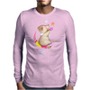 Cute Teddy Bear Moon and Stars Mens Long Sleeve T-Shirt