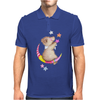 Cute Teddy Bear Moon and Stars Mens Polo