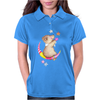 Cute Teddy Bear Moon and Stars Womens Polo