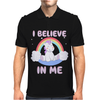 Cute Unicorn I Believe In Me Mens Polo