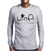 Cute Wine Mens Long Sleeve T-Shirt