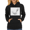Cutting Lobster tail Womens Hoodie