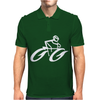 Cyclist Road Bike Biking Mens Polo