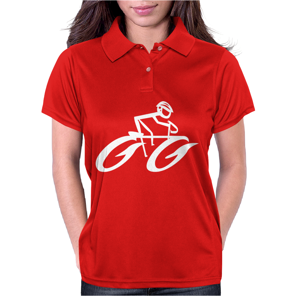 Cyclist Road Bike Biking Womens Polo