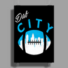 Dab City Carolina Poster Print (Portrait)