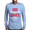 Dad By Day Gamer By Night Gaming Mens Long Sleeve T-Shirt
