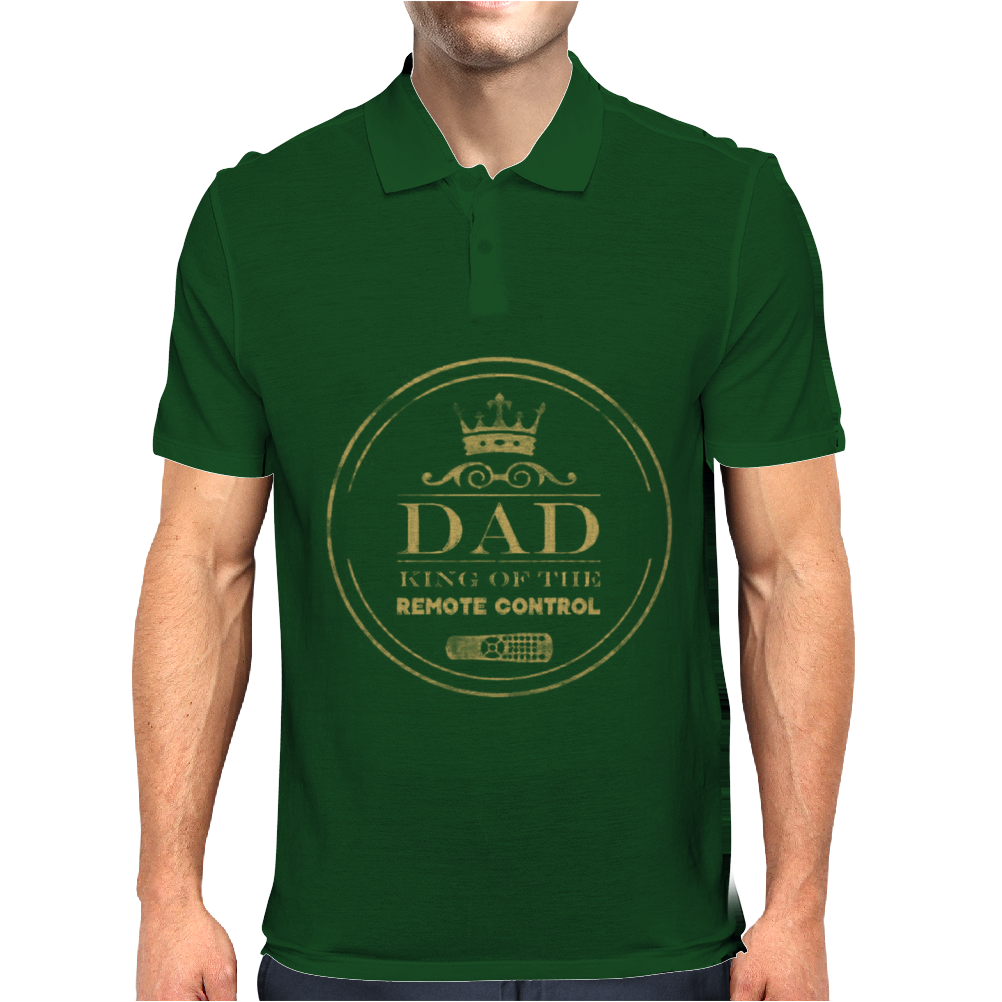 Dad King Of Remote Mens Polo
