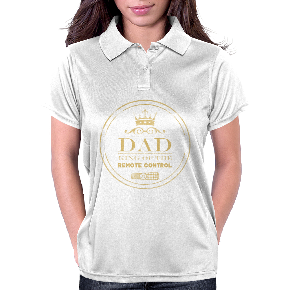 Dad King Of Remote Womens Polo