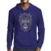 """Daddy Skully"" design by EBC. Purple Skull, modern design, bold look. Mens Hoodie"