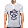"""Daddy Skully"" design by EBC. Purple Skull, modern design, bold look. Mens Polo"
