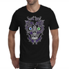 """Daddy Skully"" design by EBC. Purple Skull, modern design, bold look. Mens T-Shirt"
