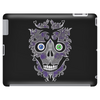 """Daddy Skully"" design by EBC. Purple Skull, modern design, bold look. Tablet (horizontal)"