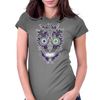 """Daddy Skully"" design by EBC. Purple Skull, modern design, bold look. Womens Fitted T-Shirt"