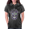 """Daddy Skully"" design by EBC. Purple Skull, modern design, bold look. Womens Polo"