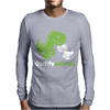 Daddysaurus Dinosaur Dino Mens Long Sleeve T-Shirt