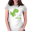 Daddysaurus Dinosaur Dino Womens Fitted T-Shirt
