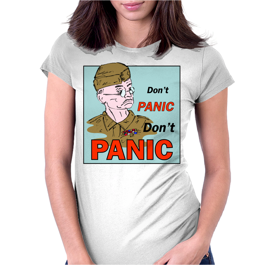 Dad's Army – Lance-Corporal Jones, Don't Panic Womens Fitted T-Shirt
