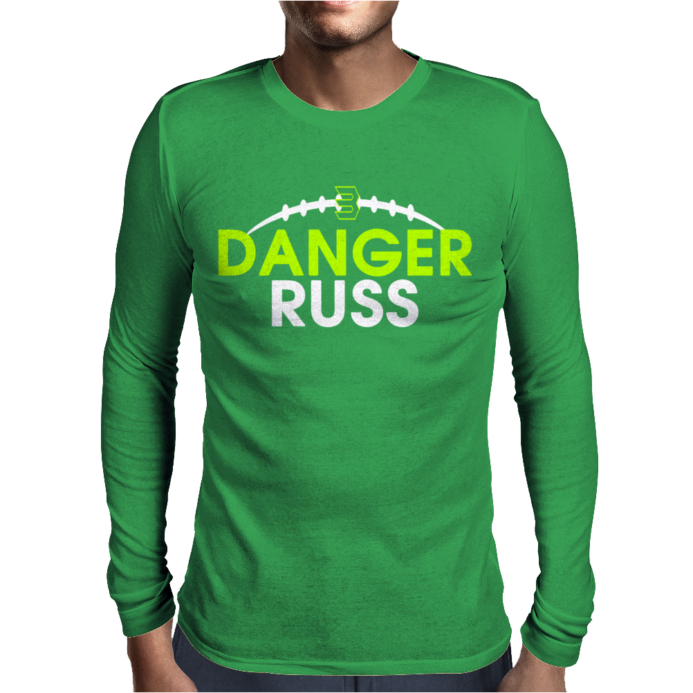 Danger Russ Russell Wilson Seattle Seahawks Mens Long Sleeve T-Shirt