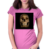 Dark Skull Artwork 3 Womens Fitted T-Shirt