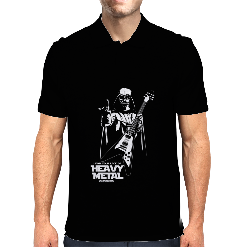 Darth Vader Heavy Metal I Find Your Lack Star Wars Mens Polo