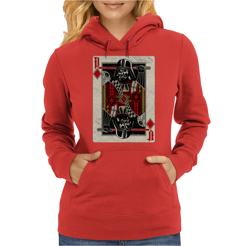Darth Vader - Playing King Card Womens Hoodie