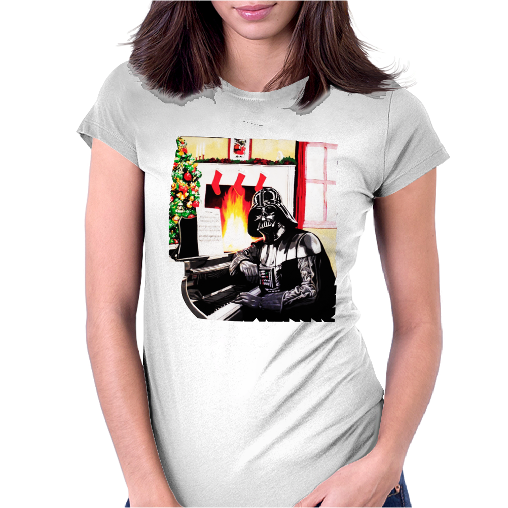 Darth Vader Star Wars Christmas Womens Fitted T-Shirt