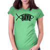 Darwin Fish Evolution Womens Fitted T-Shirt