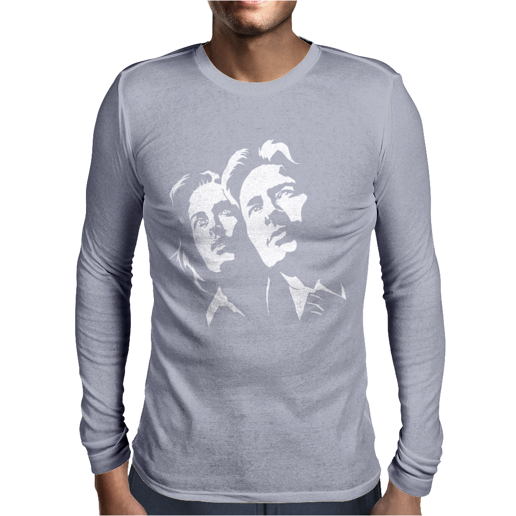 David Duchovny & Gillian Anderson Mens Long Sleeve T-Shirt