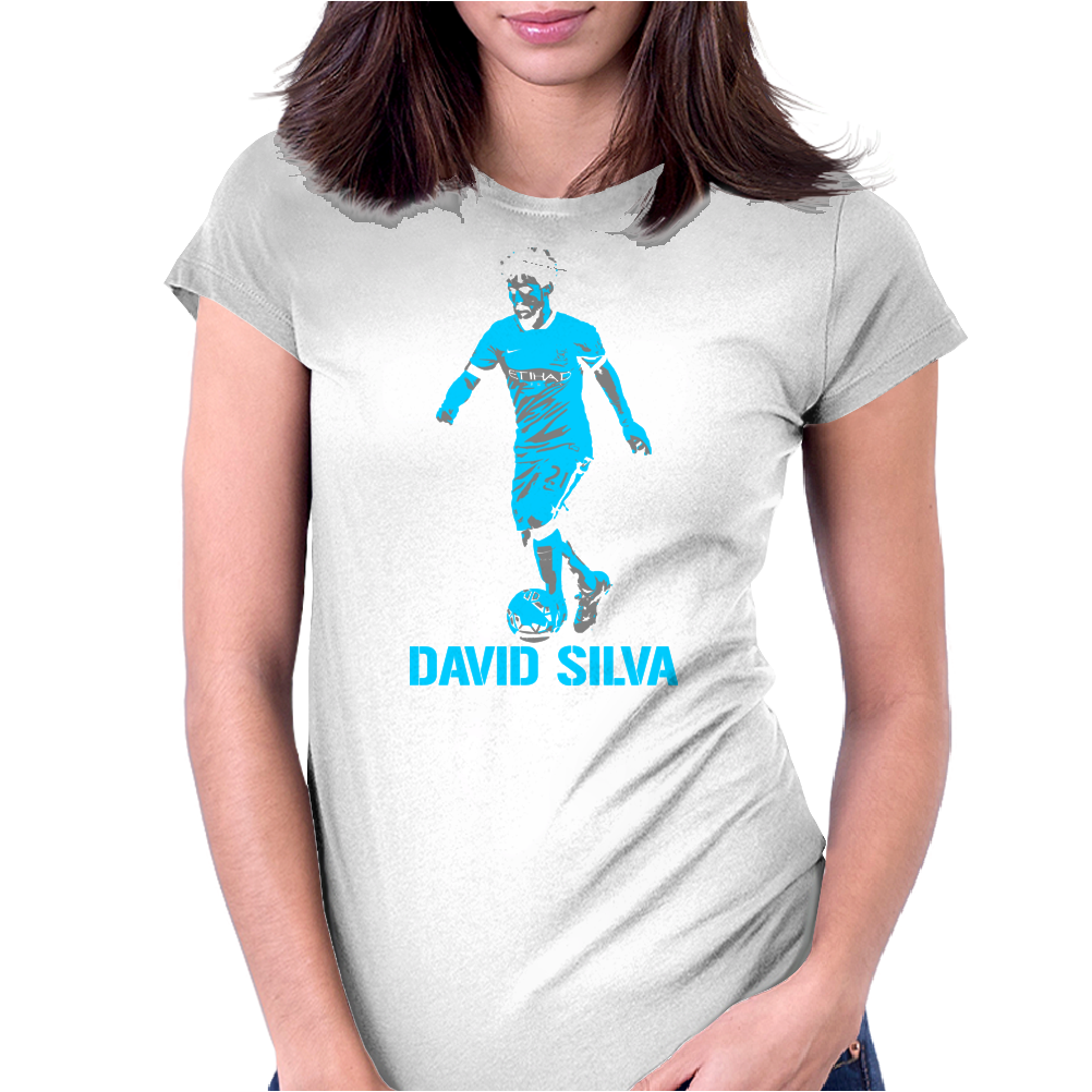 David Silva Manchester City Womens Fitted T-Shirt