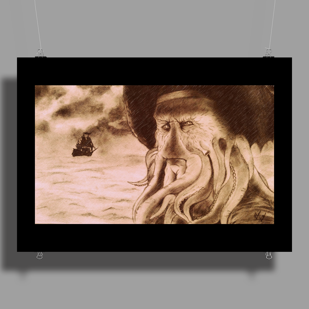 Davy Jones and the Flying Dutchman Poster Print (Landscape)