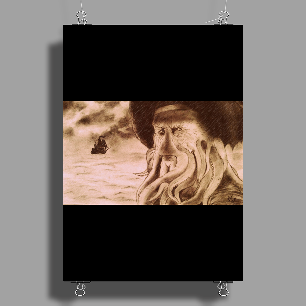 Davy Jones and the Flying Dutchman Poster Print (Portrait)