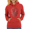 Day Of Dead Sugar Skull Womens Hoodie