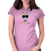 Day of the Dead Sugar-Skull Womens Fitted T-Shirt