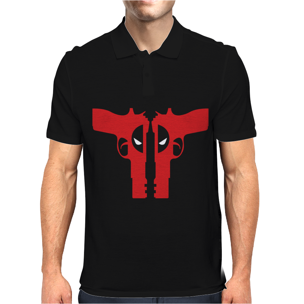 Deadpool Guns - Funny Mens Polo