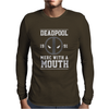 Deadpool Merc with a Mouth Mens Long Sleeve T-Shirt