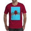 Deadpool on Bridge Mens T-Shirt