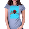 Deadpool on Bridge Womens Fitted T-Shirt