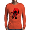 Deadpool Wade Wilson Dab Dance Pose Mens Long Sleeve T-Shirt