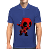Deadpool Wade Wilson Dab Dance Pose Mens Polo