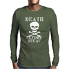 Death Before Decaf Mens Long Sleeve T-Shirt
